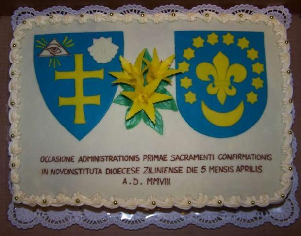 Torta na birmovku torta, Torty na cirkevné sviatky