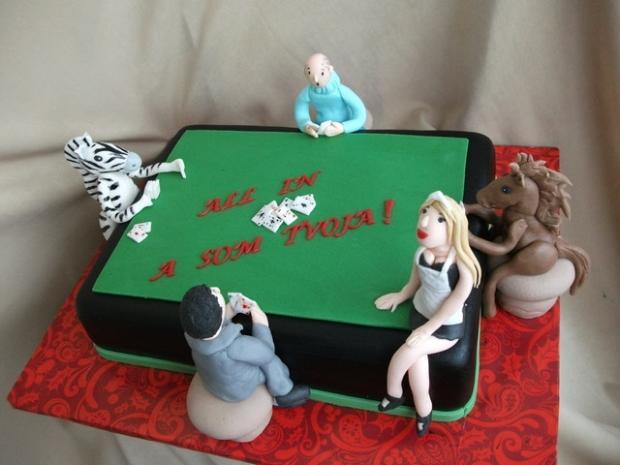 Poker s konikom a zebrou:-D torta,