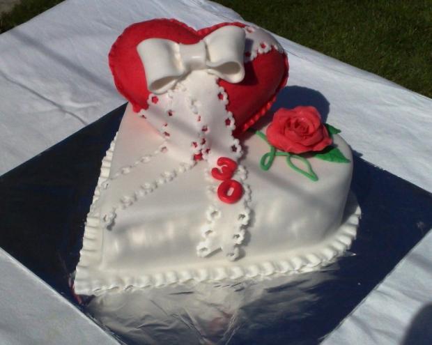 Srdce torta, narodeninové