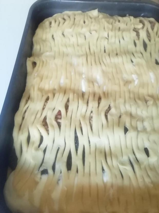 Mriežkový tvarohovo - jablkovo - makový koláč.  - recept postup 9