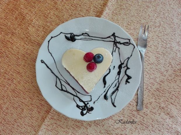 Jahodové srdiečka s vanilkovým krémom - recept postup 1
