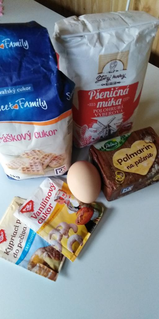 Linecký tvarohovo- jablkový koláčik.  - recept postup 1