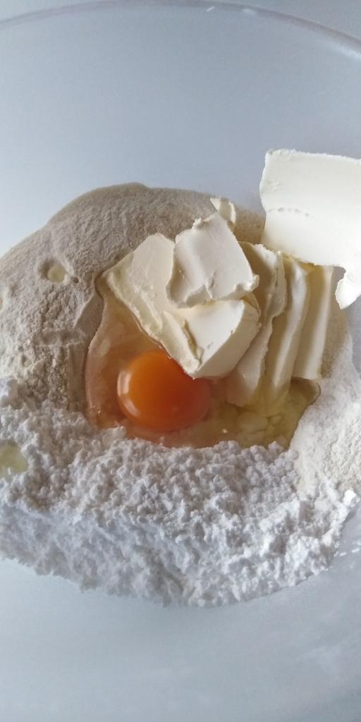 Linecký tvarohovo- jablkový koláčik.  - recept postup 2
