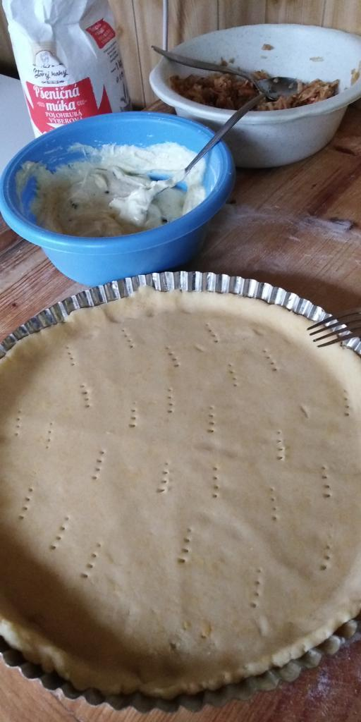 Linecký tvarohovo- jablkový koláčik.  - recept postup 6