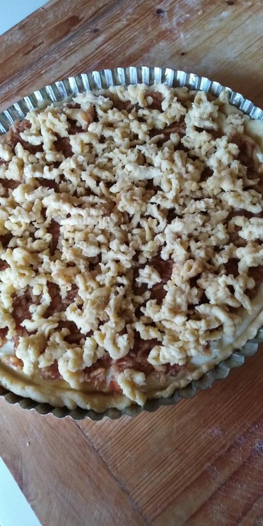 Linecký tvarohovo- jablkový koláčik.  - recept postup 8