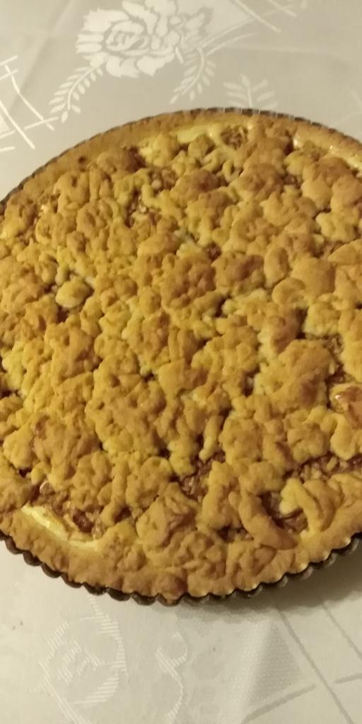 Linecký tvarohovo- jablkový koláčik.  - recept postup 9