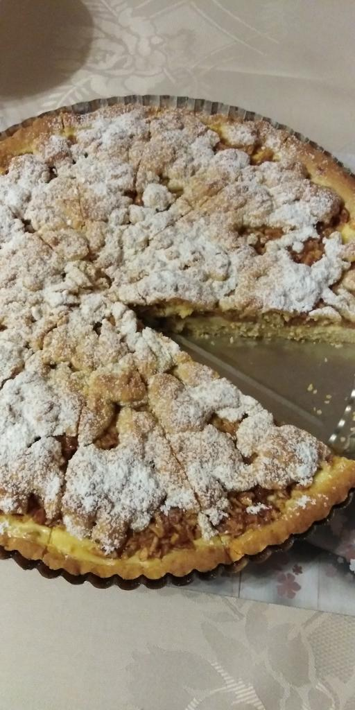 Linecký tvarohovo- jablkový koláčik.  - recept postup 10