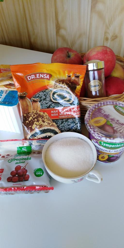 Mriežkový tvarohovo - jablkovo - makový koláč.  - recept postup 2