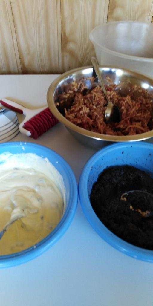 Mriežkový tvarohovo - jablkovo - makový koláč.  - recept postup 5