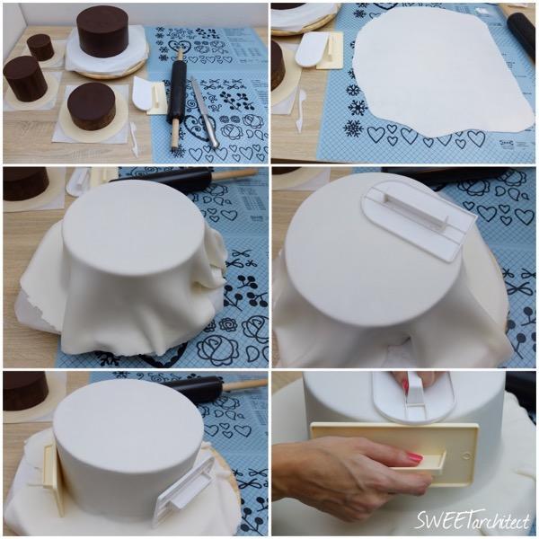 Potiahnutie tortičky - ostré hrany  1