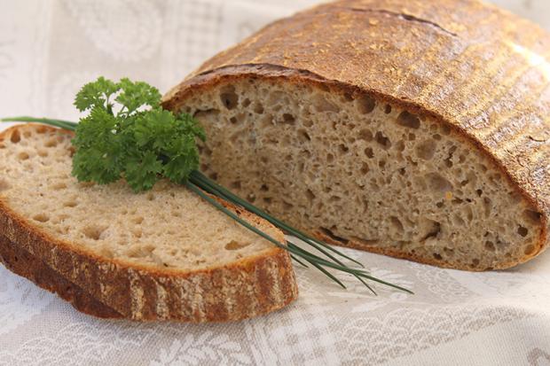 Špaldovo - ražný kváskový chlebík - recept postup 3