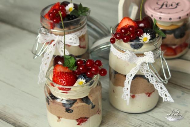 Svieže dezerty v pohárikoch - recept postup 2