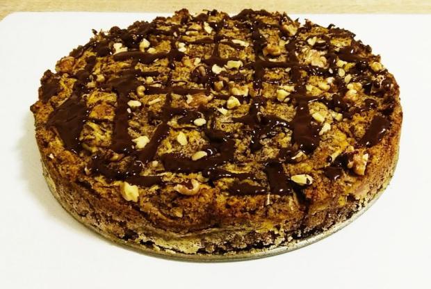 Jablkový koláč, bez múky a cukru