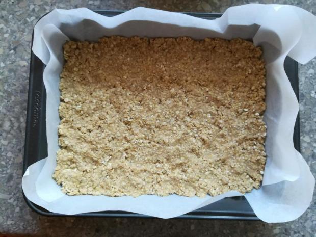 Jablkový koláč s ovsenými vločkami - recept postup 3