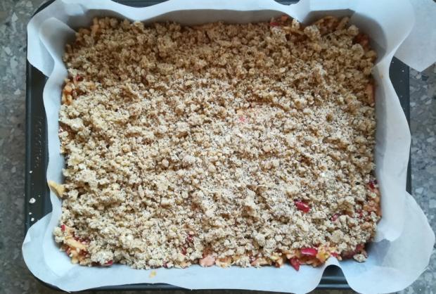 Jablkový koláč s ovsenými vločkami - recept postup 5