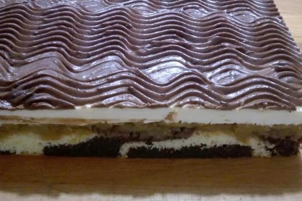 Obrátený jablkový koláč s kyslou smotanou - recept