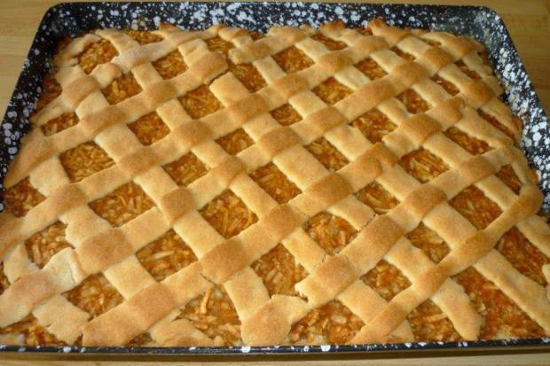 Jablkový mrežovník - recept postup 1