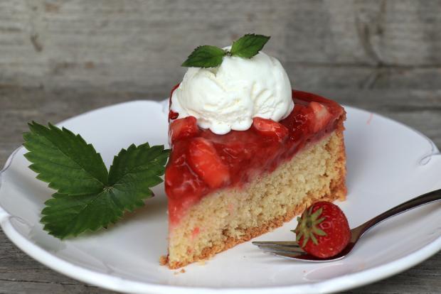 Vynikajúci jahodový koláčik - recept postup 1