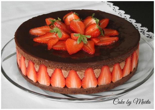 Luxusná čokoládovo jahodová torta, Autor: MartaMc