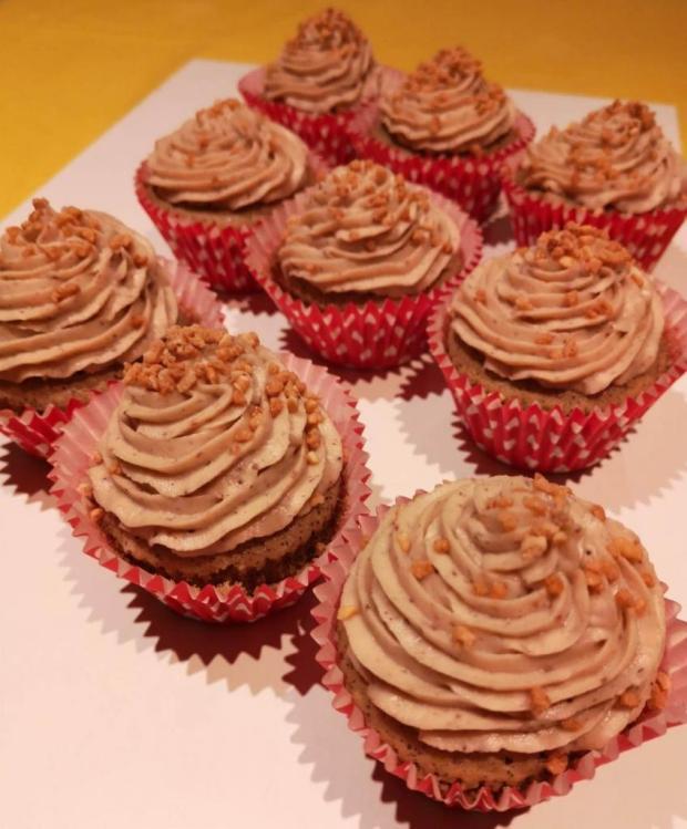 Kávové cupcakes s gaštanovým krémom - recept