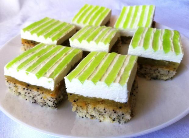 Smotanový kivi koláč - recept