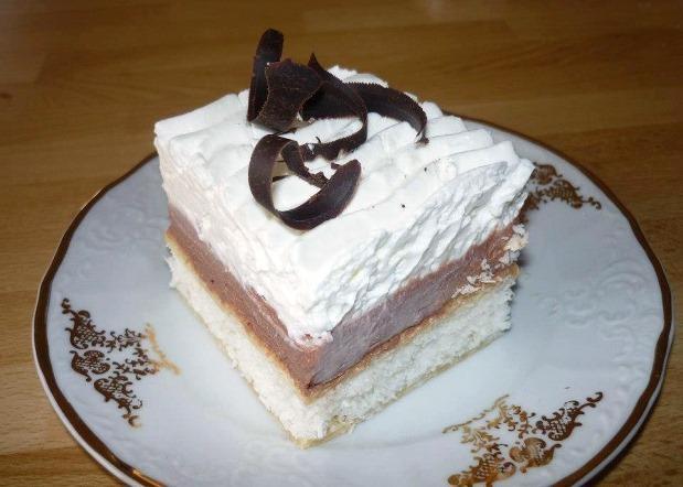 Kokosové rezy s čokoládovým krémom - recept