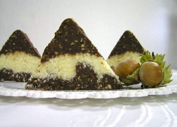 Kokosovo-čokoládové trojuholníky - recept