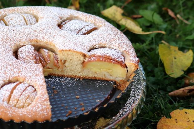 Jemný jablkový koláč - recept postup 7