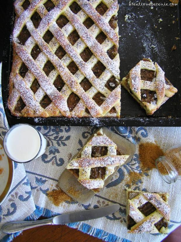 Kysnutý jablkový koláč - recept postup 2