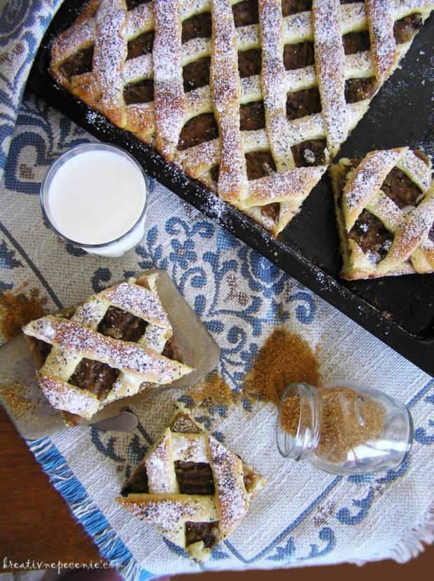 Kysnutý jablkový koláč - recept postup 3