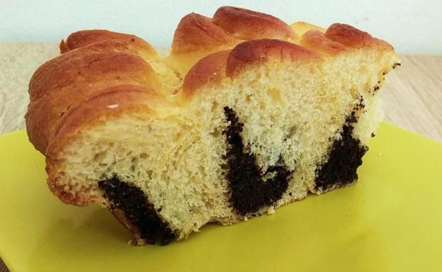 Kysnutý makový koláč - chryzantéma - recept postup 1