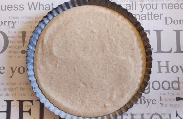 Malinový koláč s pudingom - recept postup 1