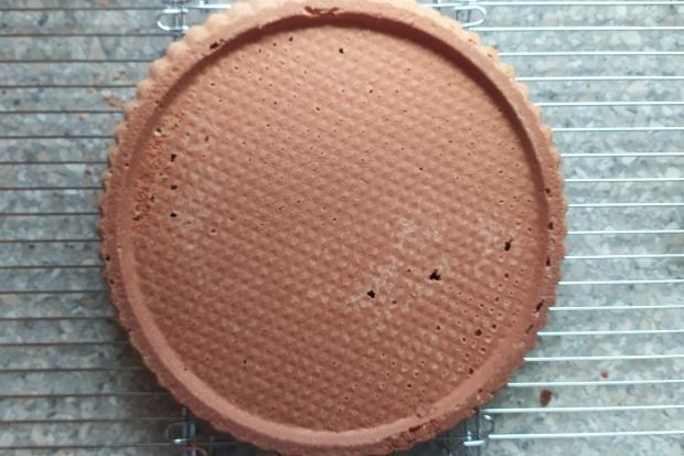 Malinový koláč s pudingom - recept postup 3