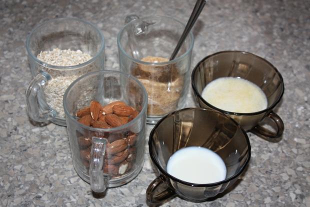 Mandľovo - jablkové košíčky - recept postup 1