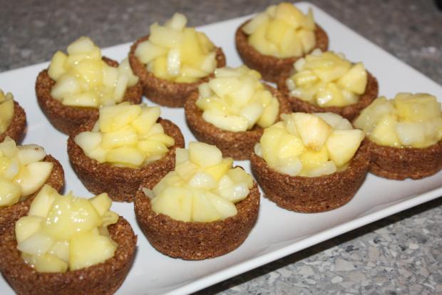 Mandľovo - jablkové košíčky - recept postup 9