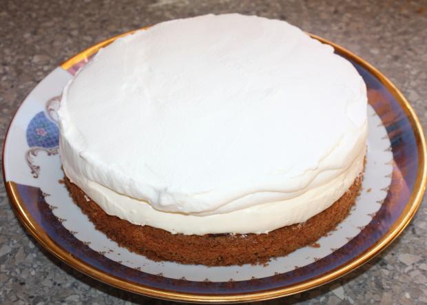 Mandľovo smotanová torta - recept postup 1