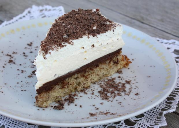 Mandľovo smotanová torta - recept postup 2