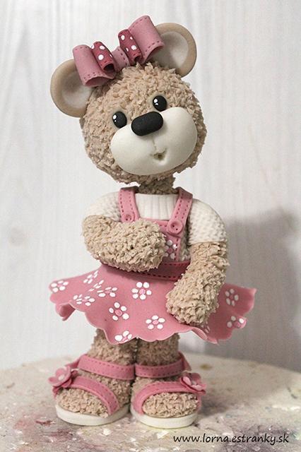Malá medvedica v šatočkách.. - foto postup