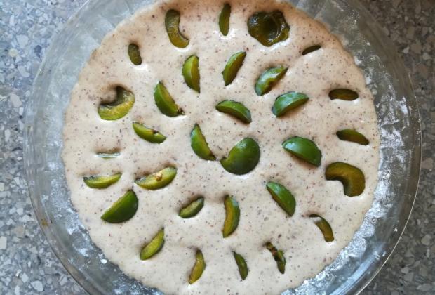 Mirabelkový koláč - recept postup 2
