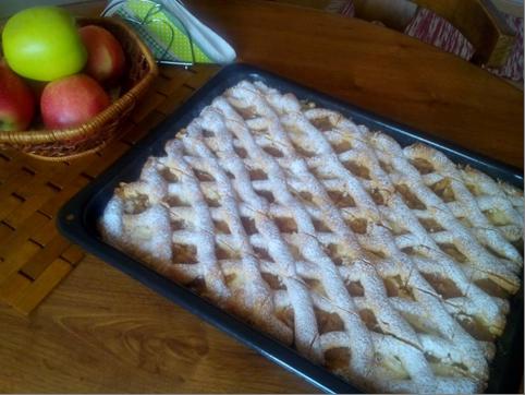 Jablkovo tvarohový mrežovník - recept postup 1