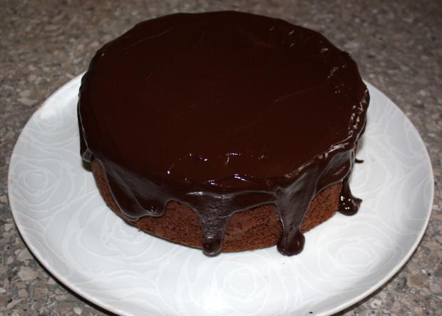Fantastická čokoládovo - ovocná torta bez múky - recept postup 12