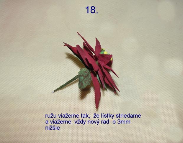Vianočná ruža z jedlého papiera 18