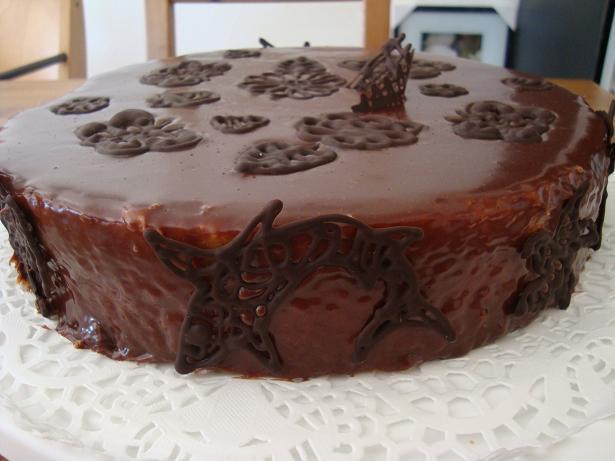 Pomarančová s vanilkovým krémom a čokoládovou polevou  - recept