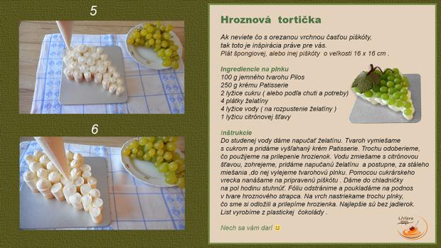 Hroznová tortička  - recept postup 2