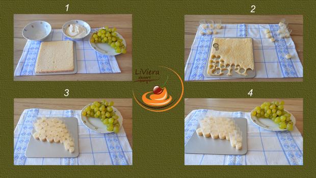 Hroznová tortička  - recept postup 1