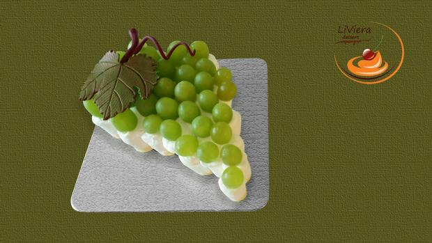 Hroznová tortička  - recept
