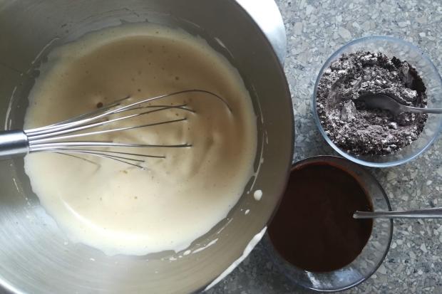 Prevrátený čerešňovo - čokoládový koláčik - recept postup 1