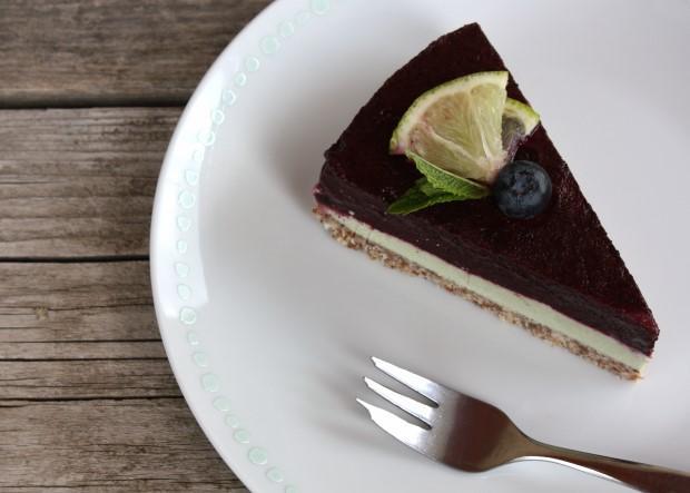 RAW čučoriedková torta - recept postup 13