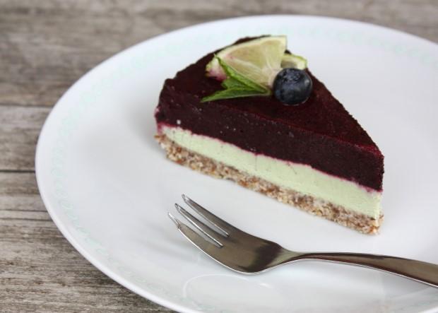 RAW čučoriedková torta - recept postup 14