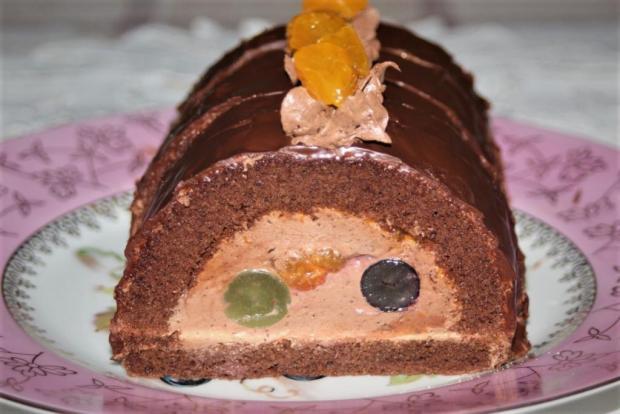 Čokoládový tunel s ovocím